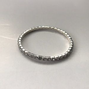 White Rhinestones Stretch Bracelet